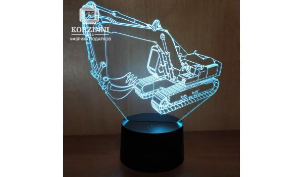 """3D светильник """"Экскаватор"""""""