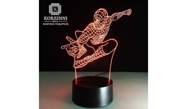 """3D светильник """"Человек паук"""""""