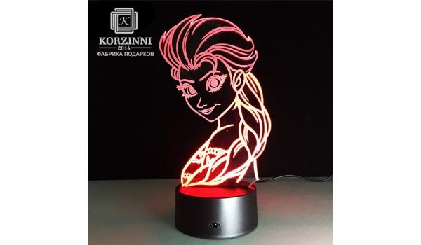 """3D светильник """"Эльза"""""""