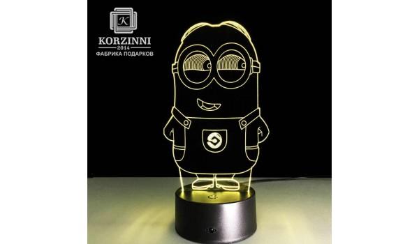 """3D светильник """"Миньон"""""""