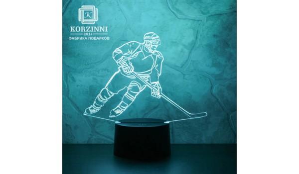 "3D светильник ""Хоккеист"""