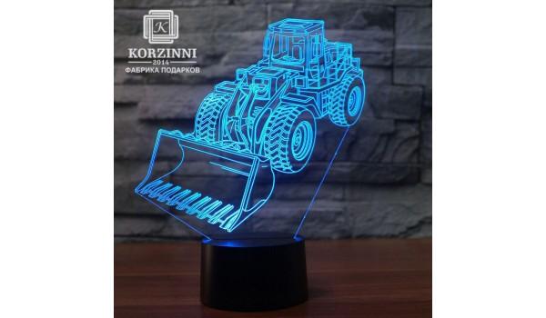 """3D светильник """"Бульдозер"""""""