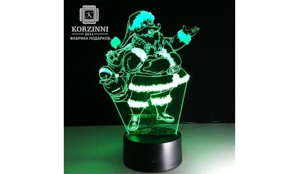 "3D светильник ""Дед Мороз"""