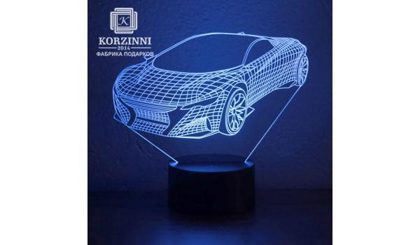 "3D светильник ""Спорт кар"""