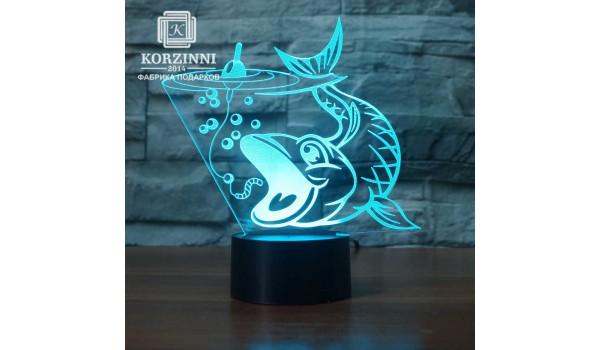 "3D светильник ""Рыбаку"""