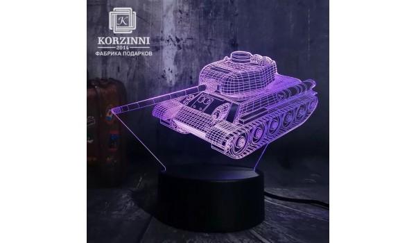 """3D светильник """"Танк"""""""