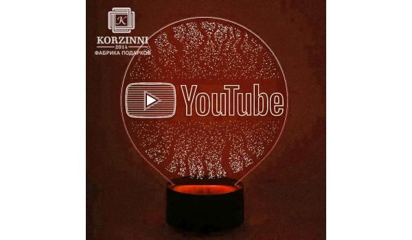 "3D светильник ""YouTube"""