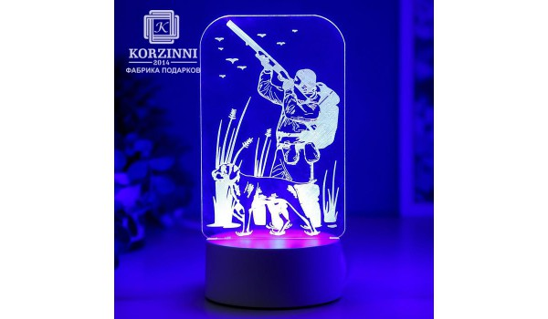 "3D светильник ""Охотнику"""