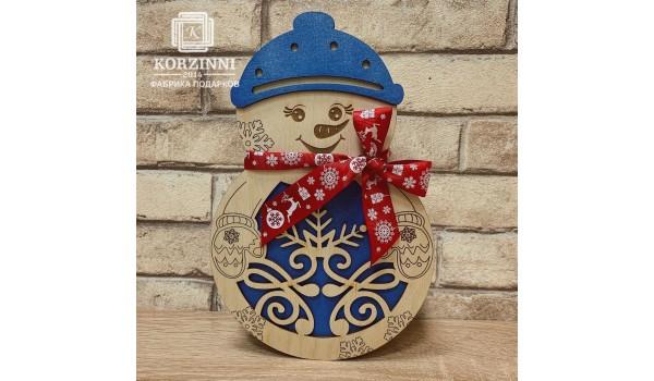 """Коробка подарочная """"Снеговик"""""""