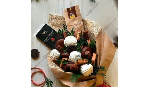 Букет с шоколадом и зефиром