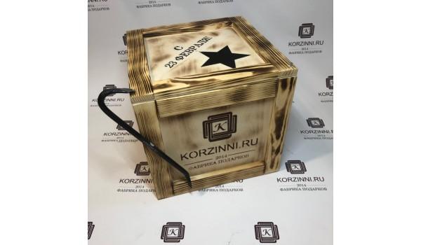 Ящик с ломом обожженный